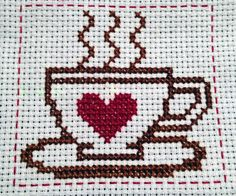 cross stitch cup | Tumblr