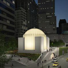 Work starts on Calatrava-designed Greek Orthodox Church on World Trade Center site.