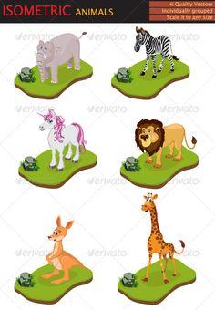 Isometric animals