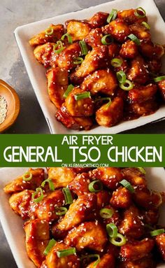 Check out this recipe for Easy General Tso's Chicken made quickly & easily in the Air Fryer. Such a delicious dinner recipe that's better than takeout. recipes air fryer Easy General Tso's Chicken - Air Fryer Air Fryer Recipes Breakfast, Air Fryer Dinner Recipes, Air Fryer Oven Recipes, Delicious Dinner Recipes, Air Fryer Chicken Recipes, Breakfast Cooking, Air Fryer Recipes Asian, Air Fryer Recipes Gluten Free, Air Fryer Chicken Tenders