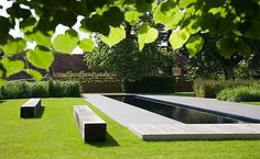 Lap pool in the English countryside designed by BHSLA Landscape Architects.: