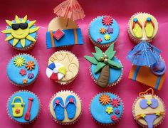 Cupcakes, fiesta en playa ^_^*  http://www.thecupcakeblog.com