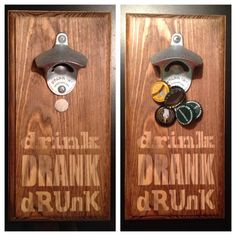 This listing is for one wall mount magnetic cap catcher bottle opener. Our uniquely designed bottle openers are sure to bring lots of smiles
