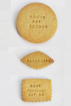 Mean Biscuits// haha need these words on every candy and cookie :D//