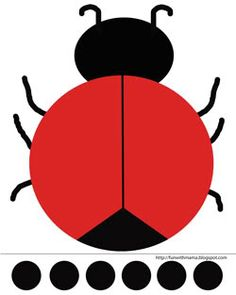 Ladybug Cut and Paste Activity + Printable - Fun with Mama