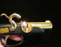 Vintage Gun Lighter Pistol Lighter Cigarette Lighter WORKING LIGHTER