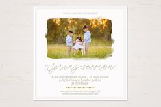 Spring Session Template by TheSeventhDesire Photography Marketing, Advertising Photography, Photoshop Program, Photography Mini Sessions, Font Names, Digital Scrapbook Paper, Digital Portrait, Photoshop Elements, Design Crafts