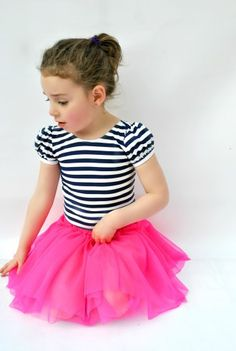 Ballet Basics 3 leotard and tutu skirt girls sizes 2-14 | Sewing Pattern | YouCanMakeThis.com