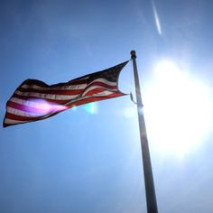 Happy Flag Day! Seen here over the Branson Landing boardwalk today, the Stars and Stripes wave proudly over Branson every day. #ItsMyShow #Branson