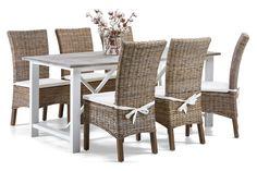 Asko - HILL-ruokapöytä ja 6 BRAVO-tuolia