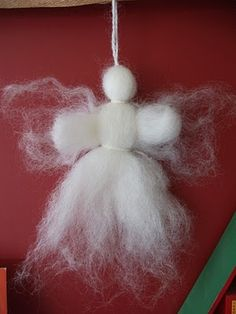wool angel Christmas Decorations, Christmas Ornaments, Holiday Decor, Godly Play, Angel Crafts, Art Activities, Yule, Crafts For Kids, Wool