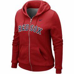 Nike Boston Red Sox Women's Classic Full Zip Hoodie - Red