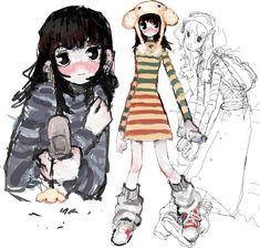Cute Art Styles, Cartoon Art Styles, Character Art, Character Design, Arte Van Gogh, Grunge Art, Dibujos Cute, Funky Art, Art Reference Poses