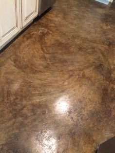 CONCRETE STAIN with details! Sherwin Williams H&C water based in Expresso. Not diluted; Seal with H&C wet shine.