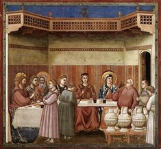 Giotto di Bondone, Marriage At Cana (1304-1306), Scrovegni Chapel, Padua, Italy