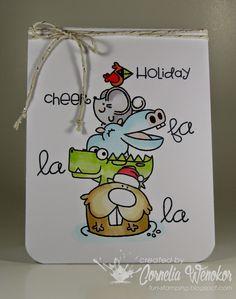 Paper Smooches (sentiment: Christmas sampler), Stempel Spass