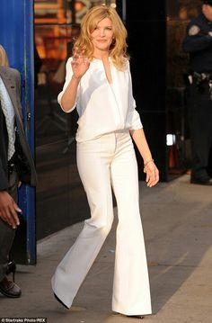 Renee Russo stunning in white