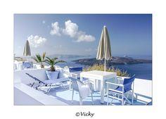 terrace with a view, Santorini by Vicky Dens, via 500px