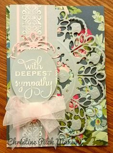 Decorative Edge die cut over patterned paper - very pretty