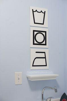 Laundry room artwork. Love it!
