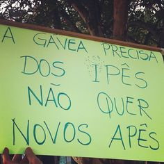 Protesto na Gávea, RJ.
