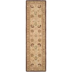 Anatolia Ivory/Brown 2 ft. 3 in. x 10 ft. Runner