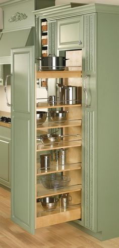 Rev-A-Shelf Rev-A-Shelf 448 Series Wide by Tall Pull Out Pantry Cabinet Natural Wood Tall Cabinet Organizers Pull Out Pantry Organizers Pull - Own Kitchen Pantry Farmhouse Style Kitchen, Rustic Kitchen, Diy Kitchen, Kitchen Storage, Kitchen Ideas, Kitchen Decor, Kitchen Organization, Kitchen Designs, Kitchen Inspiration