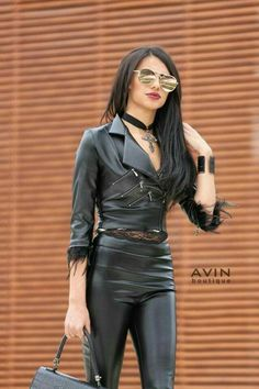 Tight Leather Pants, Leather Trousers, Leather Jackets, Leather Skirts, Hot Outfits, Leather Fashion, Black Leather, Womens Fashion, Fast Fashion