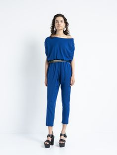 IOANNA KOURBELA OVERALL VITAL 20216-12875 Summer Looks, Knitwear, Overalls, Trousers, Jumpsuit, Comfy, Boutique, Elegant, Casual