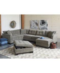 Elliot Fabric Microfiber 2-Pc. Chaise Sectional Sofa Created for Macyu0027s | Sofa furniture Sofa shop and Living room furniture  sc 1 st  Pinterest : elliot microfiber sectional - Sectionals, Sofas & Couches