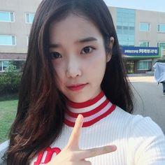Image may contain: 1 person, selfie and closeup Korean Celebrities, Celebs, Iu Twitter, Real Angels, Iu Fashion, Korean Actresses, Korean Artist, Moon Lovers, Kpop Groups