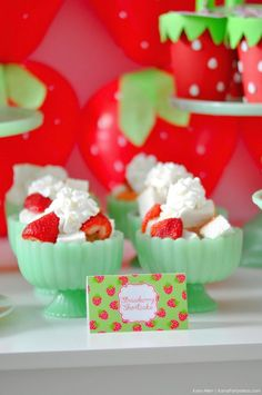 Strawberry Shortcake. Berry Sweet Strawberry Valentine's Day Party with FREE printables! By Kara's Party Ideas for Canon.
