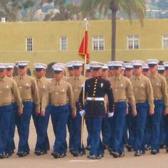 I was a proud mom! MCRD (San Diego) Platoon Leader at Graduation 1-29-2010