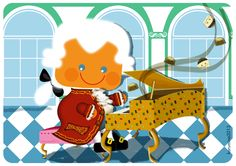 Little Mozart and a Sonata of Chocolates cubisan