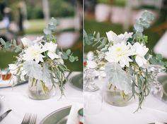 Rustic flower centerpiece  #flowers #wedding #inspiration