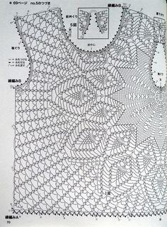 Crochet blouse chart