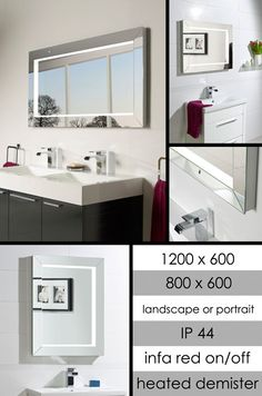 Chic Heated Mirror with Lights & Mirror Frame (63L)