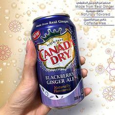 كندا دراي شراب شعير الزنجبيل بنكهة التوت الأسود خالي من الكافيين و محضر من الزنجبيل الحقيقي متوفر في #سيفكو Canada Dry Ginger Ale Blackberry is Caffeine free & made from Real Ginger Available In #Saveco