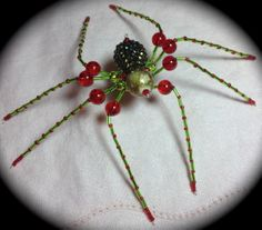 Christmas spider made by Andrea Ziebarth