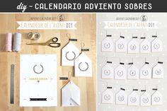Tutoriales para realizar calendarios de adviento originales, muy sencillos y rápidos de hacer.