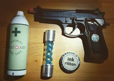 Resident evil Props for my cosplay of Jill Valentine. #residentevil #biohazard #jillvalentine #cosplay #cosplayprops