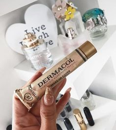 not an just want to share with you all that's the best concealer I've ever tried super coverage stays all day water… Fashion And Beauty Tips, Diy Beauty, Beauty Hacks, Healthy Beauty, Health And Beauty, Dermacol Foundation, Dermacol Make Up Cover, Face Care, Skin Care