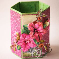 Heartfelt Creations - Petunia Pencil Holder Project