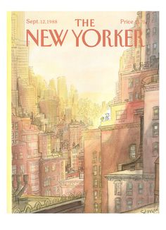 Sempé - The New Yorker cover, 1988