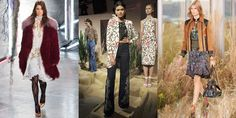 While the '70s trend has remained strong, it has materialized mostly as a modern take on clean, casual separates in rich neutrals. This '70s is all about the band babe—think mixed prints and chiffon dresses and embellished flares layered with suede jackets and vests or mongolian fur bomber jackets—as seen at Alice  + Olivia, Coach and Rodarte. Roadies not included.