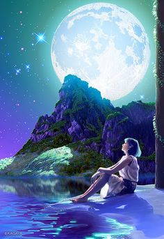 Hi my friends Beautiful Fantasy Art, Beautiful Artwork, Beautiful Pictures, Fantasy Women, Indian Art, Fantasy Characters, Night Skies, Concept Art, Anime Art