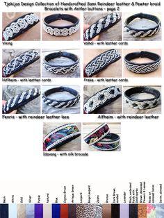 Handcrafted Sami Lapland Swedish Reindeer Leather Bracelets. Find them on Etsy or ArtFire - by TjekijasDesign