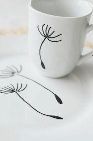do it yourself porzellan bemalen handgefertigt selbermachen und selber machen. Black Bedroom Furniture Sets. Home Design Ideas