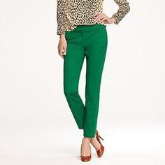 Jcrew. I've always wanted green pants!!!!