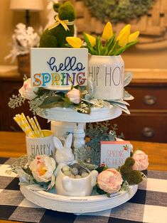 Tiered tray sign Squeeze the day sign tray sign Rae Dunn Hello Spring, Spring Is Here, Spring Time, Spring Home Decor, Fall Decor, Cute Signs, 3d Signs, Tiered Stand, Diy Mirror